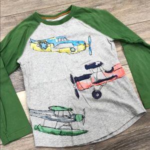 Mini Boden Boys Long Sleeve Planes T-Shirt